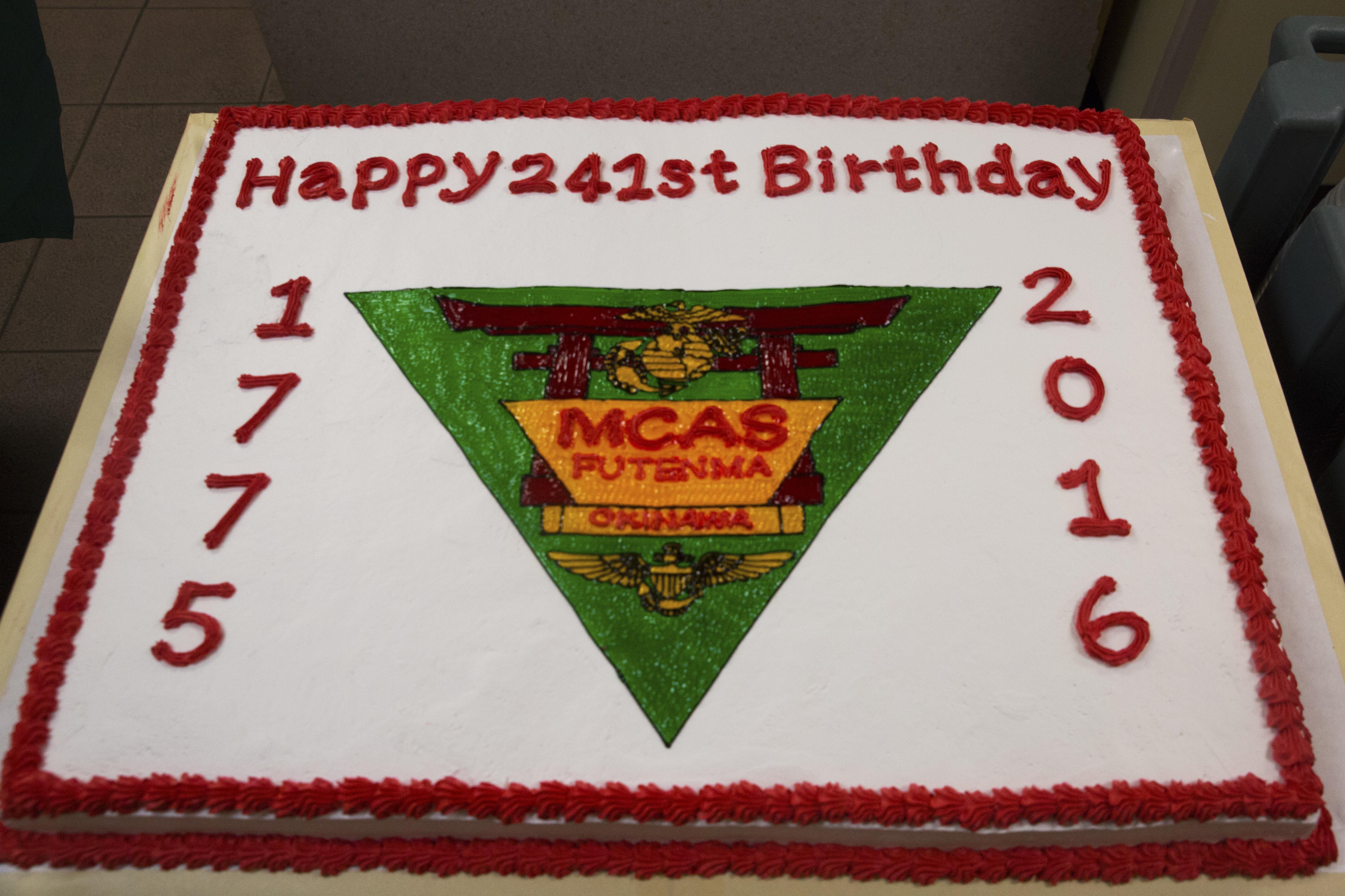 Fabulous Marine Corps Air Station Futenma Mess Hall Celebrates 241St Marine Birthday Cards Printable Trancafe Filternl