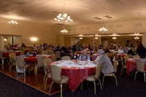 Team Seymour hosted a Retiree Appreciation Night, Nov. 10, 2016, at Seymour Johnson Air Force Base, North Carolina. More than 100 retirees and family members attended the event and participated in different activities to keep them informed about base initiatives and programs (U.S. Air Force photo by Airman Miranda A. Loera)