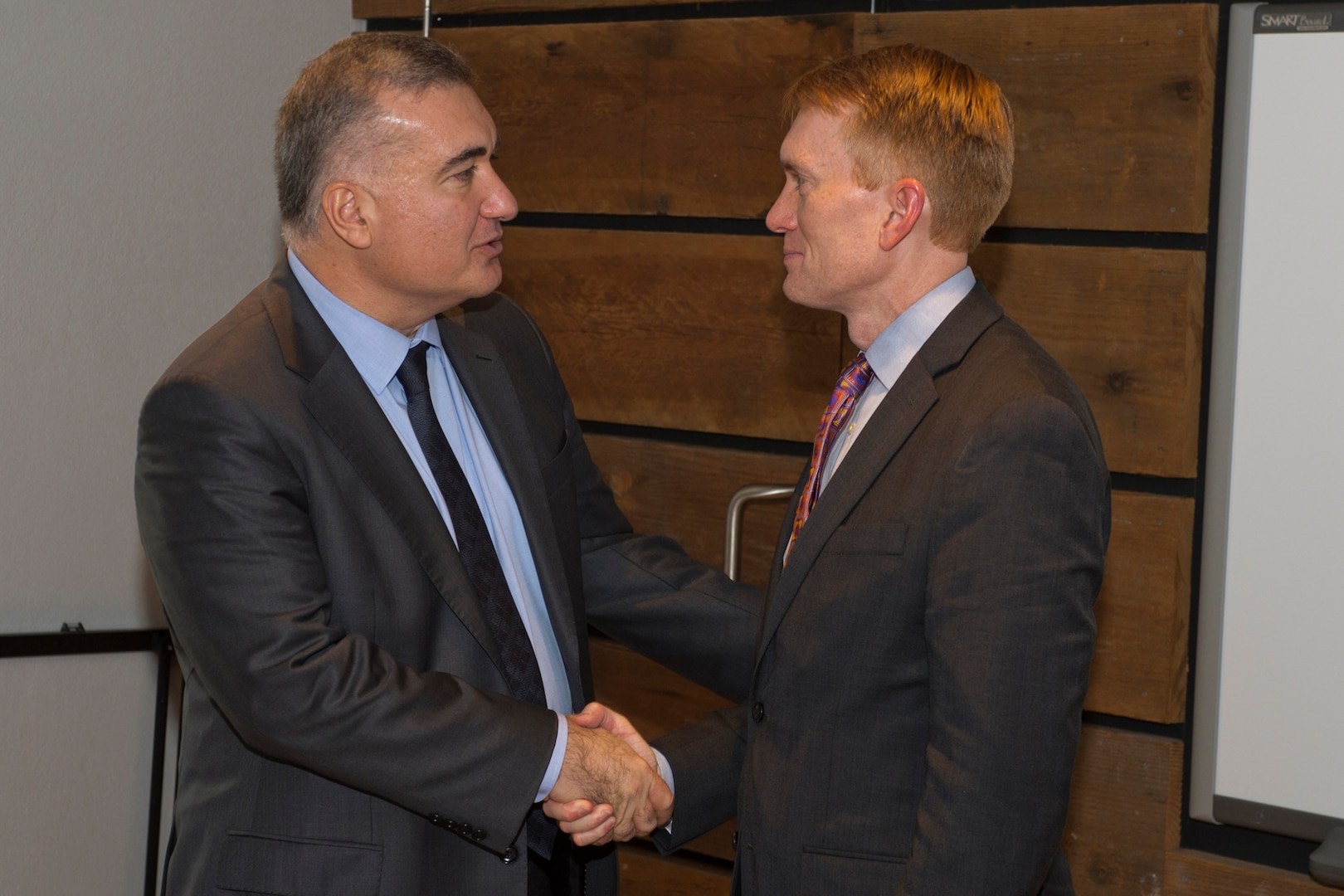 The Azerbaijani Ambassador to the United States, Elin Suleymanov, meets with U.S. Sen. James Lankford, who represents the State of Oklahoma.