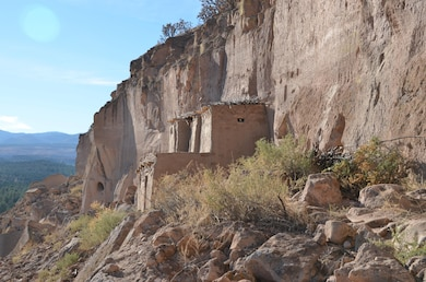 SANTA CLARA PUEBLO, N.M. – Photo of some of the cliff dwellings in Santa Clara Canyon. Photo by Maj. Jason Melchior, Nov. 9, 2016. This was a 2016 Photo Drive entry.
