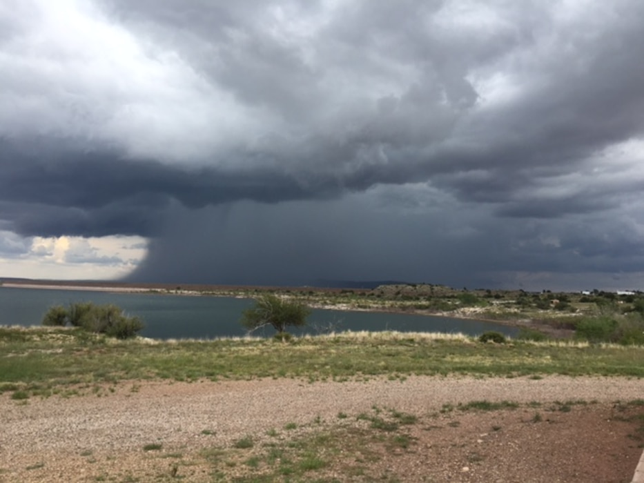 CONCHAS LAKE, N.M. – This storm moved into the area accompanied by lightening, wind, and heavy rain, Aug. 21, 2016. Photo by Nadine Carter. This was a 2016 Photo Drive entry.