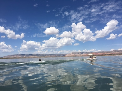 ABIQUIU LAKE, N.M. -- One of the participants in the adaptive ski program held at the lake, Sept. 11, 2016. Photo by Austin Kuhlman. This was a 2016 Photo Drive entry.