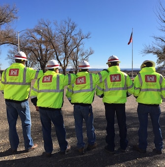 CONCHAS DAM, N.M. – The maintenance crew heads off to work with their safety equipment in place, Nov. 30, 2015. Photo by Toni Brown. This 2016 Photo Drive entry was the Commander's Choice Award winner!