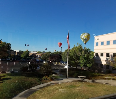 ALBUQUERQUE, N.M. – During the International Balloon Fiesta, many balloons came close to the District Office, Oct. 4, 2016. Photo by Chris Velasquez. This was a 2016 Photo Drive entry.