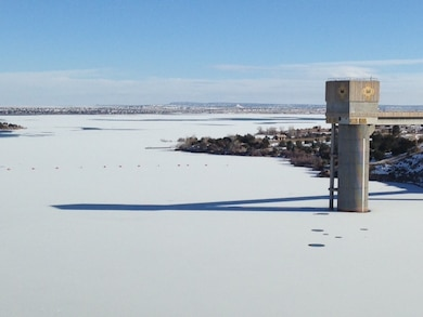 SANTA ROSA LAKE, N.M. – The lake froze, Jan. 5, 2016. Photo by Rowena Sanchez. This was a 2016 Photo Drive entry.