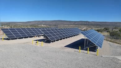 COCHITI LAKE, N.M. – The completed photovoltaic electric generation system at the project, Oct. 20, 2016. Photo by Erin Larivee. This was a 2016 Photo Drive entry.