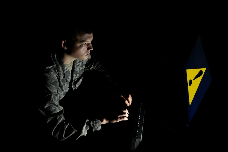 Ensuring that the U.S. Air Force's cyber assets and our personally identifiable information remain safe and out of the wrong hands is one of the many responsibilities that we, as Airmen, must take seriously. Cyber threats are most commonly a result of negligence and carelessness in taking care of information. (U.S. Air Force illustration by Airman 1st Class Christopher Maldonado)