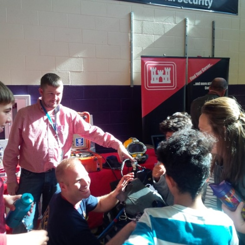 Huntington District participated in the Huntington East Middle School Career Day with nearly 600 students in grades 6-8 at the Huntington East Middle School Career Day.