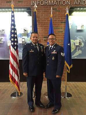 Lt. Col. Trias and his son, Staff Sgt. Christopher Trias.