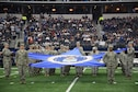 Over 280 service members engaged in pre-game and halftime activities during the Dallas Cowboys' Military Appreciation Day Nov. 20, 2016, at AT&T Stadium in Arlington, Texas. The Cowboys triumphed over the Ravens 27 to 17, putting their 9-1 record as the best in the NFL. (Air Force photo by Julie Briden-Garcia)