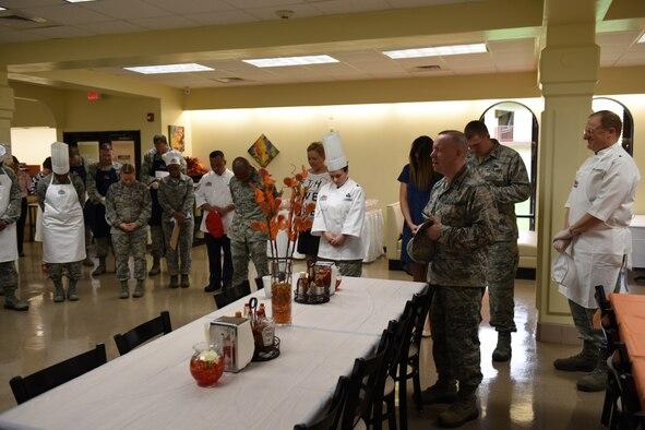 Service Members Celebrate Thanksgiving At Andersen