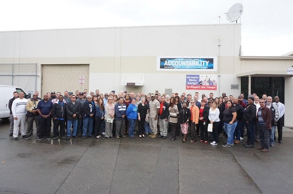 Participants in the Foundations of High Performing Leadership training at DLA Distribution San Joaquin, Calif.