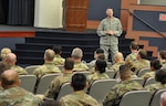 DLA Director Air Force Lt. Gen. Andy Busch spoke to students at the U.S. Army Command and General Staff School at Fort Belvoir, Virginia, Nov. 22.