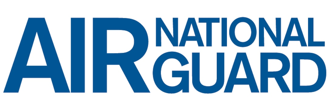 This is the wordmark for the Air National Guard. It is available in EPS, JPG, TIF, and PDF file formats (custom weight, altered letterforms), and should NEVER be typeset, except in the flow of body copy.   ALWAYS use the approved graphics provided. Excluding proportional enlargement and reduction, this graphic may not be altered in any way. See notes on approved color, state usage, and alternate lockups in the following pages.