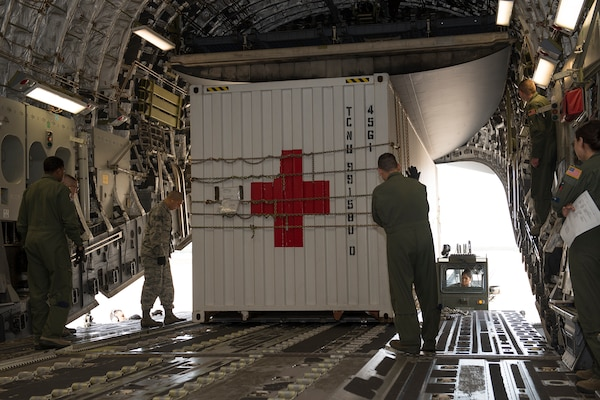 Load masters from 502nd Logistics Readiness Squadron at Joint Base San Antonio and 701st Airlift Squadron at Joint Base Charleston help JBSA-Lackland provide a rapid humanitarian response to emergencies across the globe.