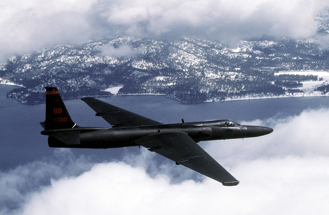 An Air Force U-2 Dragon Lady flies a training mission.(U.S. Air Force photo/Rose Reynolds)