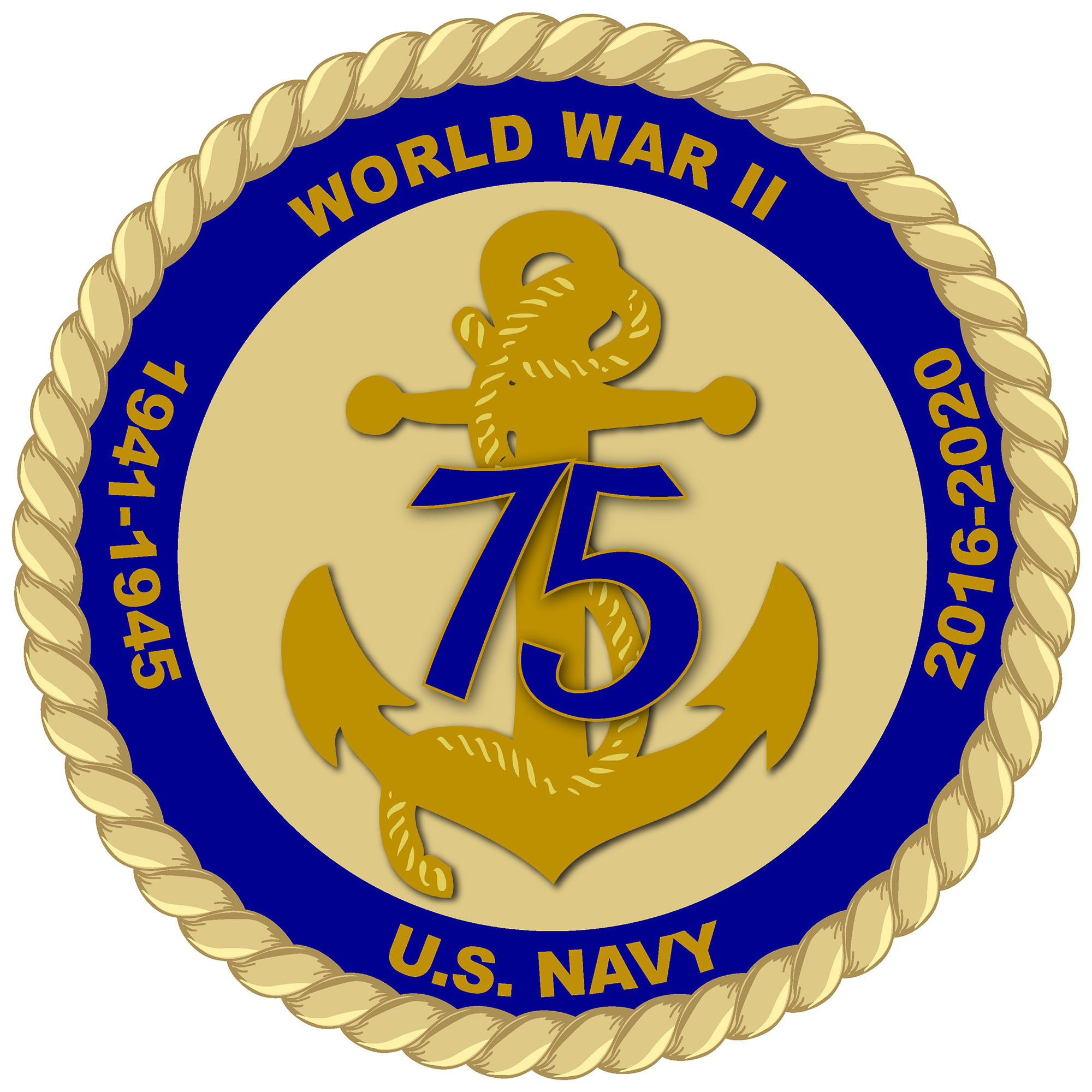 Navy Releases Official Logo For 75th Anniversary Of Wwii Us Indo