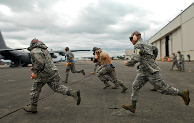 """Air Mobility Command unveiled a replacement to the previous AMC RODEO construct called Exercise Mobility Guardian, which will be held at Joint Base Lewis-McChord, Wash., in August 2017. While RODEO encouraged units to select specialized teams to compete, Mobility Guardian participants will consist of Airmen who are """"always ready"""" being tested in various situations in a joint environment. (U.S. Air Force photo by Tech. Sgt. Elizabeth Concepcion/Released)"""