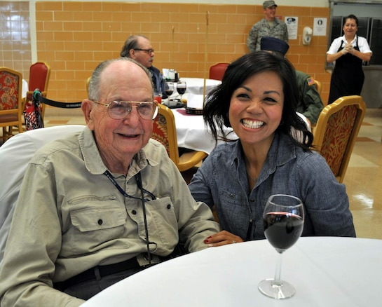 Reservist from the 349th Air Mobility Wing have been making an annual pilgrimage to the California Veterans Home, Yountville, to help serve the Thanksgiving meal. (U.S. Air Force photos/Ellen Hatfield/released)