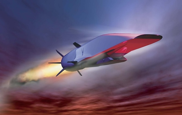 An artist's concept of the Air Force Research Laboratory/Boeing X-51A during flight. The X-51 WaveRider is an unmanned research scramjet for hypersonic flight. The X-51 program was a cooperative effort by the Air Force, the Defense Advanced Research Agency, NASA, Boeing and Pratt & Whitney Rocketdyne. The program was managed by the Aerospace Systems Directorate in the Air Force Research Laboratory. X-51 technology will be used in the AFRL's high-speed strike weapon, a Mach 5-plus missile that's scheduled to enter service in the mid-2020s.