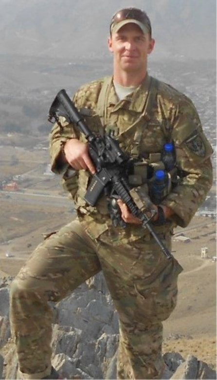 "KABUL, Afghanistan – Capt. David Lyon, 21st Logistics Readiness Squadron at Peterson Air Force Base, Colo., was killed in December 2013 by a vehicle-borne improvised explosive in Kabul, Afghanistan. Lyon's legacy was that of ""no greater love,"" which his teammates say he lived every day.  (Courtesy photo)"