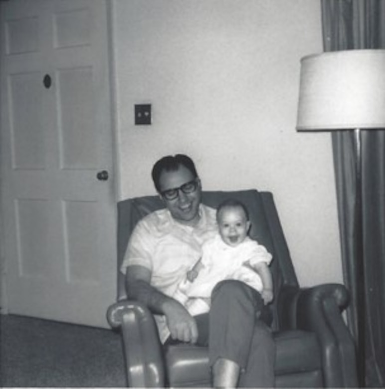Dr. Edward Tagliaferri and his daughter Monique taken in the 1960's. At the time, he was a young physicist working at TRW in Redondo Beach, Calif.