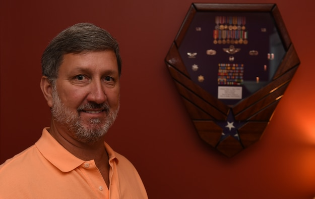 Col. (Ret.) Jim A. Barr, poses for a photo in his home in Mount Pleasant, S.C., Aug. 3, 2016. (U.S. Air Force photo by Staff Sgt. Sean Martin)