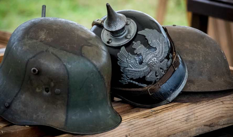 DAYTON, Ohio -- Visitors encountered more than 60 re-enactors in a war encampment setting during the Tenth WWI Dawn Patrol Rendezvous at the National Museum of the U.S. Air Force on Oct. 1-2, 2016. Artifacts and equipment were also on display. (U.S. Air Force photo by Mike Lent)
