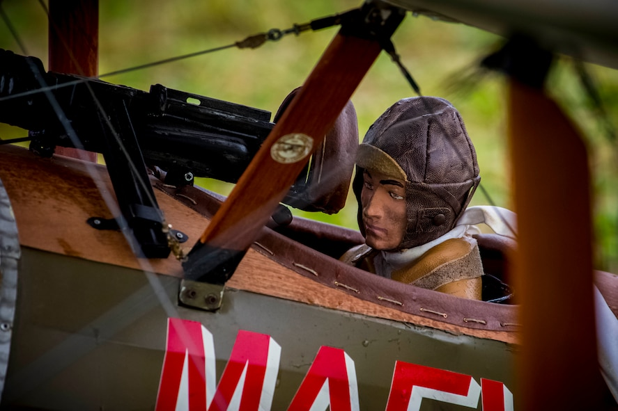 DAYTON, Ohio -- WWI-era radio-controlled model aircraft, some as large as 1/2-scale, performed during the Tenth WWI Dawn Patrol Rendezvous on Oct. 1-2, 2016. (U.S. Air Force photo by Mike Lent)
