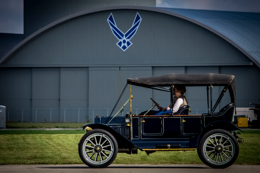 DAYTON, Ohio -- Antique automobiles were displayed and paraded around the grounds of the National Museum of the U.S. Air Force during the Tenth WWI Dawn Patrol Rendezvous on Oct. 1-2, 2016. (U.S. Air Force photo by Mike Lent)
