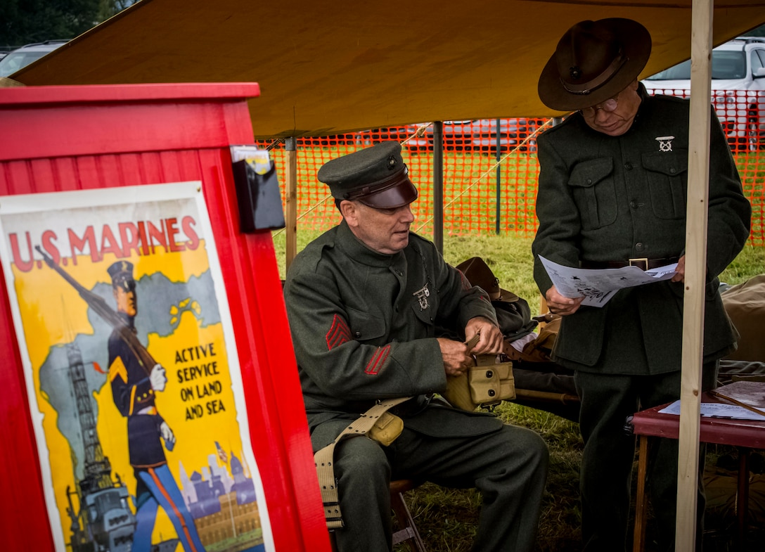 DAYTON, Ohio -- Visitors encountered more than 60 re-enactors in a war encampment setting during the Tenth WWI Dawn Patrol Rendezvous at the National Museum of the U.S. Air Force on Oct. 1-2, 2016. (U.S. Air Force photo by Mike Lent)
