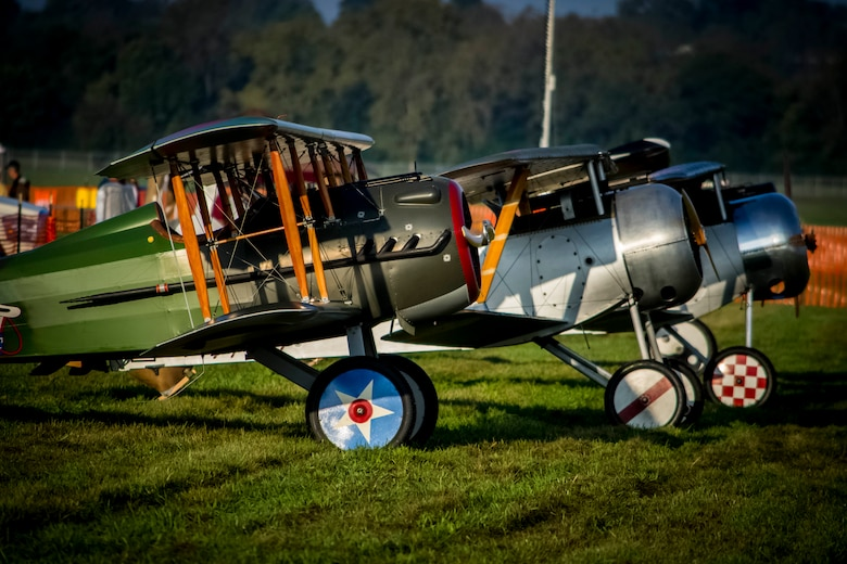 DAYTON, Ohio -- World War I aircraft before taking to the skies during the during the Tenth WWI Dawn Patrol Rendezvous at the National Museum of the U.S. Air Force on Oct. 1-2, 2016. (U.S. Air Force photo by Mike Lent)