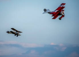 DAYTON, Ohio -- WWI-era radio-controlled model aircraft, some as large as 1/2-scale, performed during the Tenth WWI Dawn Patrol Rendezvous at the National Museum of the U.S. Air Force on Oct. 1-2, 2016. (U.S. Air Force photo by Mike Lent)