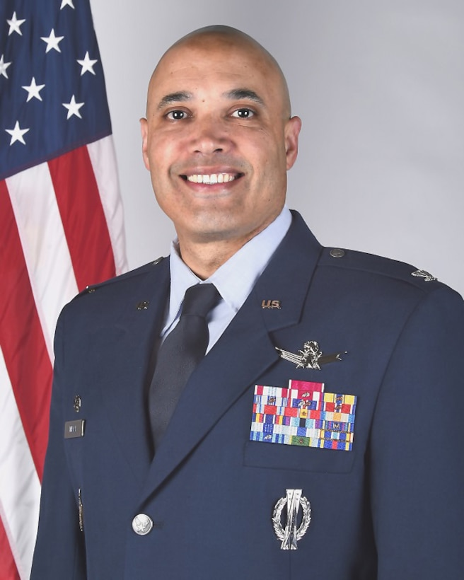 Col. David N. Miller Jr. assumed command of the 460th Space Wing during a change-of-command ceremony Aug. 12, 2016, on Buckley Air Force Base, Colo. Since then, Miller continues to guide Team Buckley to a path of success through his top priorities of professionalism, discipline and readiness. (U.S. Air Force photo by Senior Airman Samantha Meadors/ Released)