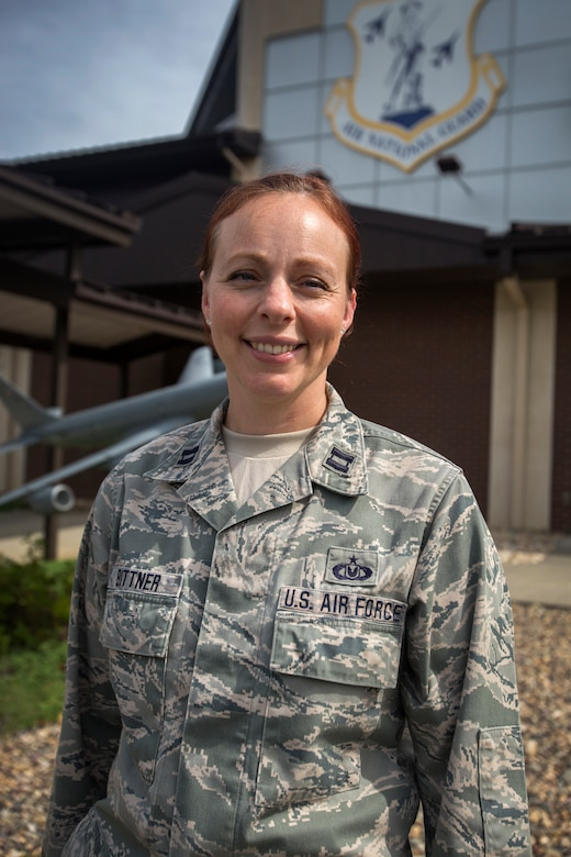 Hospice volunteer Capt. Felicia M. Bittner, is a Senior Intelligence Officer with the 108th Operations Support Squadron, New Jersey Air National Guard, at Joint Base McGuire-Dix-Lakehurst, N.J., Sept. 21, 2016. (U.S. Air National Guard photo by Master Sgt. Mark C. Olsen/Released)