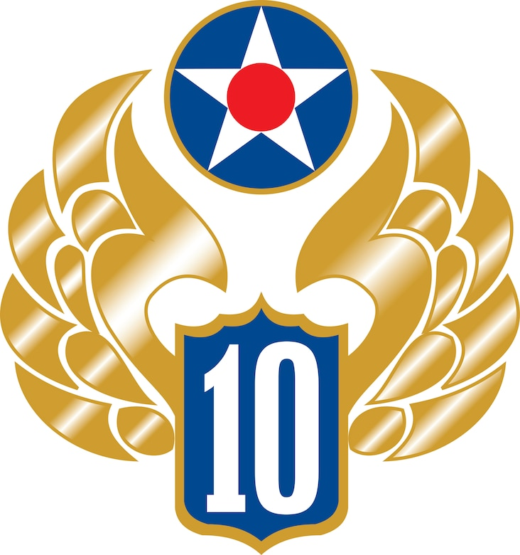 Tenth Air Force Golden Wings Logo