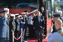 Medal of Honor recipients arrive at the Minnesota Medal of Honor Memorial groundbreaking ceremony Oct. 3.