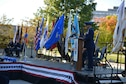 Col. Anthony G. Polashek, 934th Airlift Wing commander, serves as narrator at the Minnesota Medal of Honor Memorial groundbreaking ceremony Oct. 3.