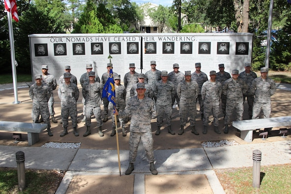 Detachment 19 is located at Eglin Air Force Base, Florida, home of the 96th Test Wing and the 33d Fighter Wing. The detachment picture was taken in front of the 33rd Fighter Wing Khobar Towers memorial. This memorial was dedicated on June 25, 1997 to the twelve airmen from the 33rd Fighter Wing who lost their lives at the Khobar Towers, Dhahran, Saudi Arabia as a result of the terrorist bombing on June 25, 1996.