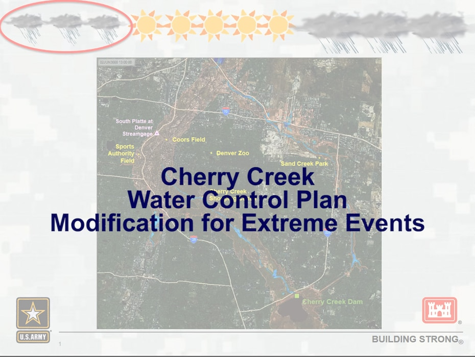 The Cherry Creek Water Control Plan Modification Study recommends a modified release plan for Cherry Creek Reservoir during extreme precipitation events.