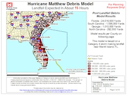 USACE Computer Model Critical to the Corps Hurricane Matthew Response