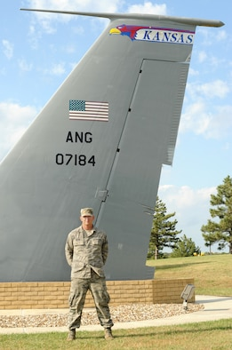 Staff Sgt. Clinton Brown, 161st Intelligence Squadron intelligence analyst, poses for a photo, Oct. 6, 2016, at the air park on McConnell Air Force Base, Kan. Brown was recently awarded the United Service Organization National Guardsmen of the Year for saving two children from a car fire May 23, 2015. (U.S. Air Force photo/Staff Sgt. Rachel Waller)