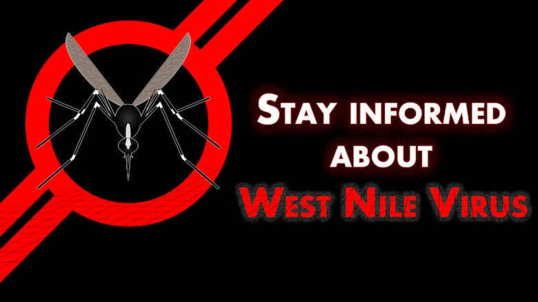 The 49th Medical Group's Public Health Office offers some tips for Holloman Airmen to stay informed about the West Nile Virus. (U.S. Air Force graphic by Senior Airman Aaron Montoya)