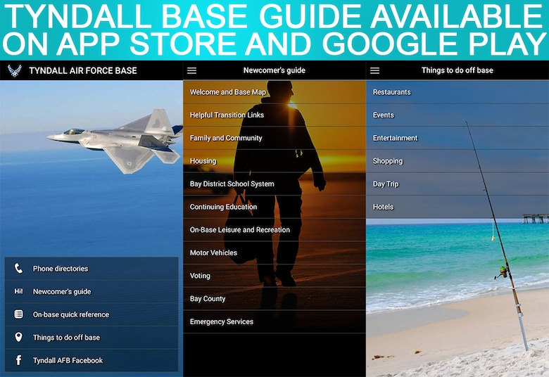 The Tyndall Base Guide is available on the Apple App Store and Google Play.