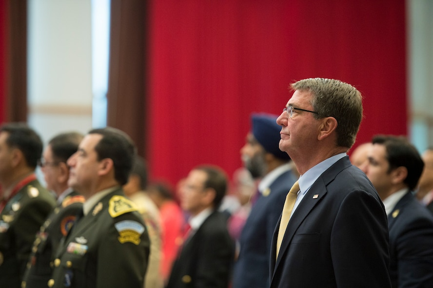 Defense Secretary Ash Carter attends the Conference of the Defense Ministers of the Americas.