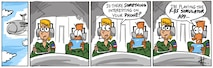 """Pope's Puns - Humor for Airmen. Long running cartoon series published in the Air Force Reserve magazine """"Citizen Airman""""."""