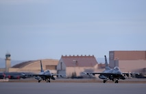 A pair of U.S. Air Force F-16 Fighting Falcons assigned to the 36th Fighter Squadron out of Osan Air Base, Republic of Korea, taxi down the Eielson Air Force Base, Alaska, flight line Oct. 10, 2016, during RED FLAG-Alaska (RF-A) 17-1. Conducting RED FLAG training in Alaska signifies a continued commitment to the Pacific, providing U.S. and international units the opportunity to sharpen their combat skills and strengthen interoperability in a realistic threat environment inside the Joint Pacific Alaska Range Complex, the largest instrumented air, ground and electronic combat training range in the world. (U.S. Air Force photo by Master Sgt. Karen J. Tomasik)