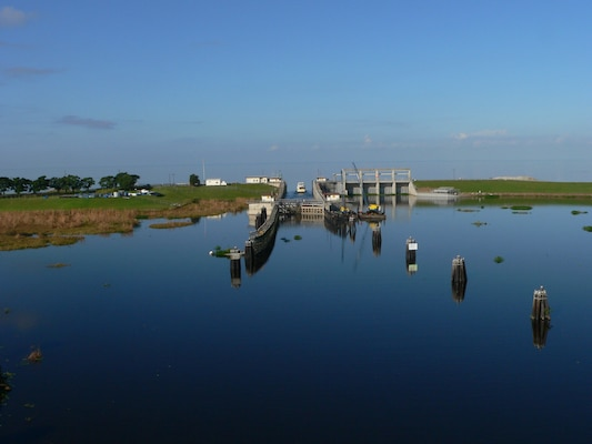 Port Mayaca Lock looking toward Lake Okeechobee