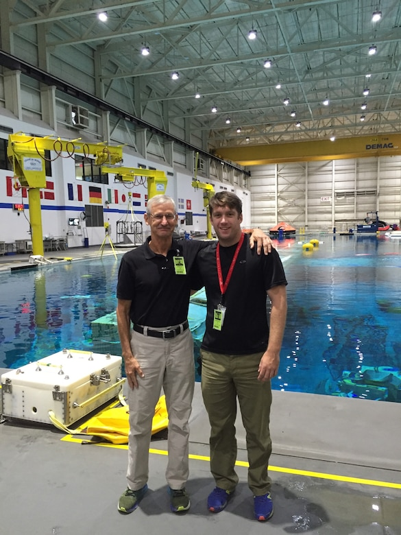 U.S. Army Corps of Engineers Buffalo District Safety Manager, William Pioli (left), and Engineer Diver Brian Dockstader (right) recently completed dive school at the NASA Neutral Buoyancy Lab in Houston, TX.