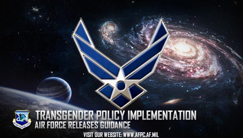 Defense Secretary Ash Carter announced in June that transgender individuals will now be able to openly serve in the U.S. armed forces. The Air Force's implementation guidance addresses the specific procedures to support the new policy. (U.S. Air Force graphic by Kat Bailey)